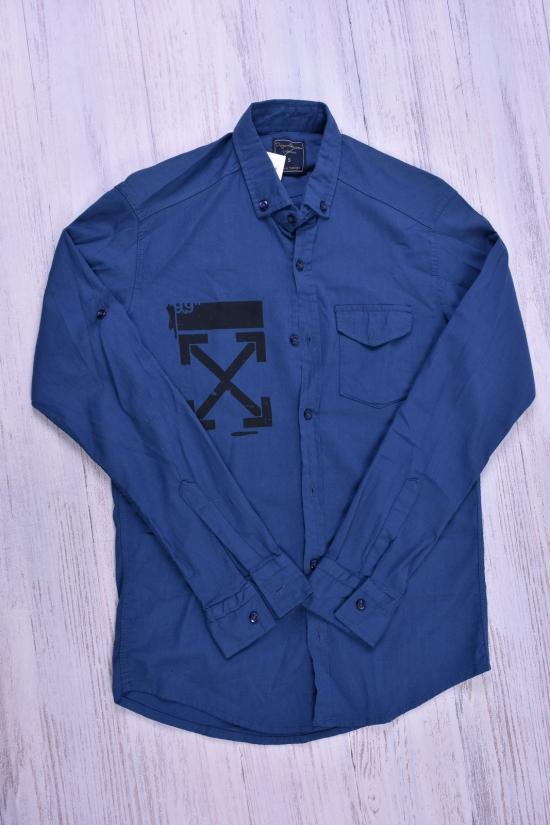 Рубашка мужская стрейчевая (цв.синий) DOFE Размеры в наличии : 40,42,44,48 арт.7.1