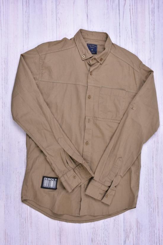 Рубашка мужская стрейчевая (цв.хаки) DOFE Размеры в наличии : 42,44,46,50 арт.9.2