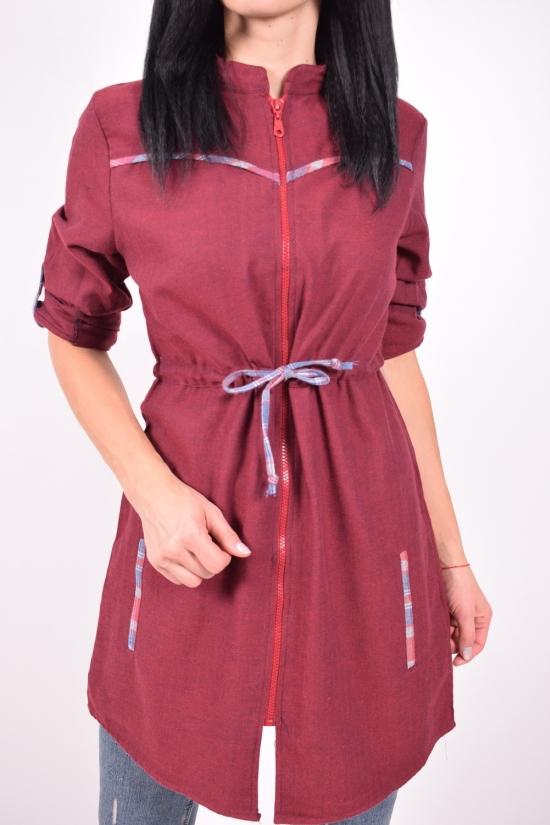 Рубашка-туника женская (цв.бордовый) Madoy Размеры в наличии : 40,42,44,46 арт.17