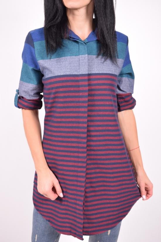 Рубашка-туника женская (цв.бордовый) Madoy Размеры в наличии : 44,46 арт.2185