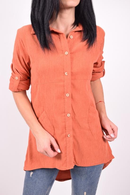 Рубашка-туника женская (цв.терракотовый) Madoy Размеры в наличии : 40,44,46 арт.201