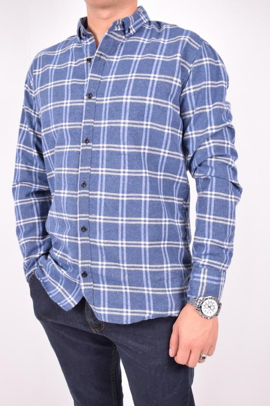 Рубашка мужская байковая (цв.синий) YARGI Размеры в наличии : 38,40,42 арт.10.1