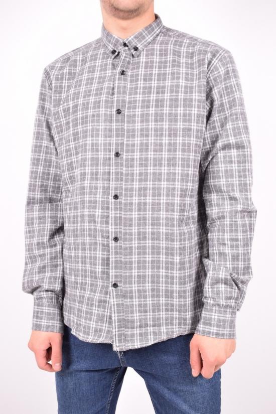 Рубашка мужская байковая (цв.серый) YARGI Размеры в наличии : 38,40,42,44,46 арт.13.3