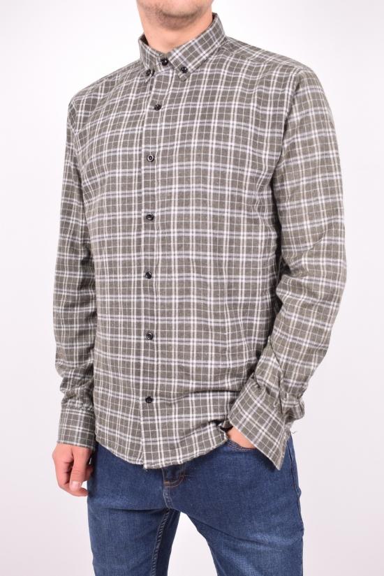 Рубашка мужская байковая (цв.хаки) YARGI Размеры в наличии : 38,40,46 арт.13.5