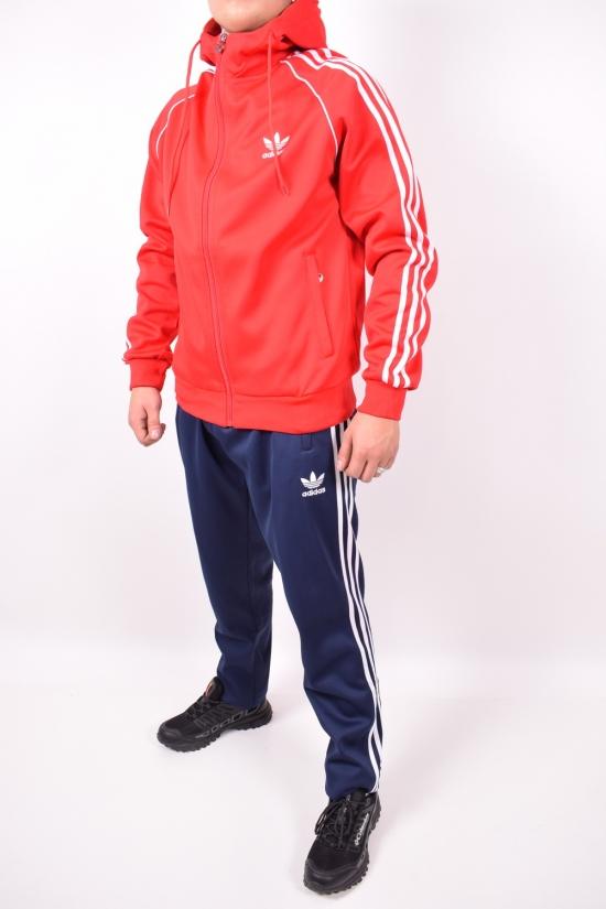Костюм спортивный мужской (цв.красный/синий) трикотажный ADIDAS Размеры в наличии : 44,46,48,50,52 арт.6906