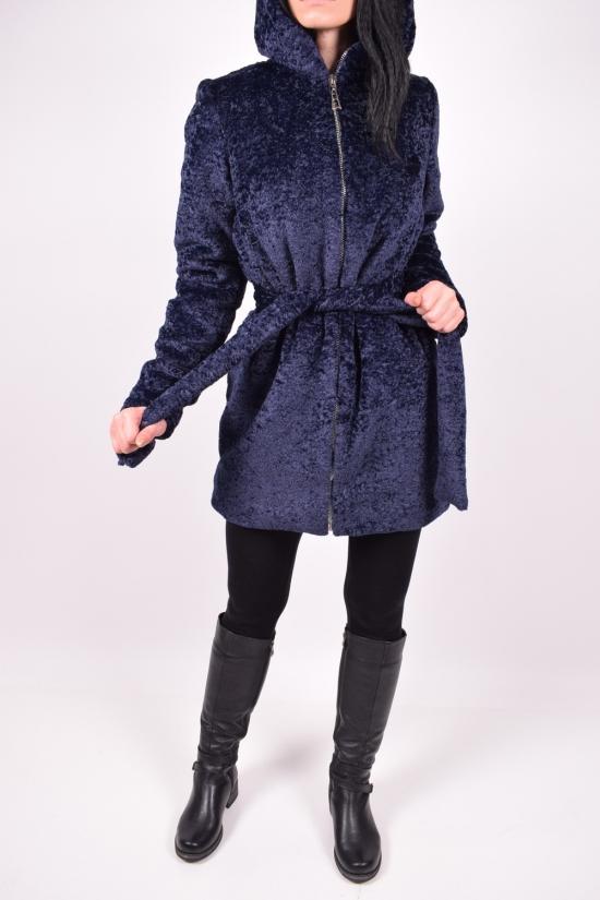 Полушубок женский с искусственного меха (цв.т/синий) NORA Размеры в наличии : 42,44,46,48,52 арт.Линда