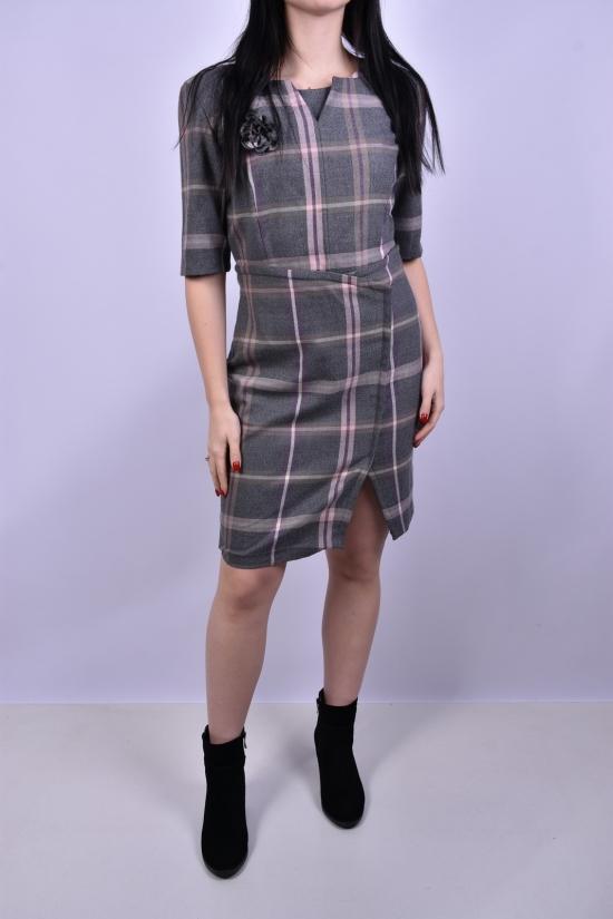 Платье женское (цв.серый)  Wind (Lycra 5%,Polyamide 30%,Viscose 55%) Размеры в наличии : 40,42,46 арт.048-1039
