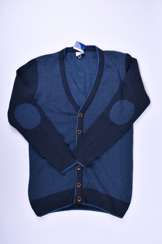 Кофта мужская тонкой вязки (цв.синий) KNITWEAR PARK Размеры в наличии : 46,48,50 арт.8250