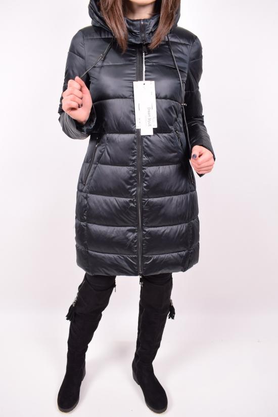 Куртка женская зимняя из плащевки (цв.т/зеленый) с натуральным мехом  D.S Размеры в наличии : 44,46 арт.H098