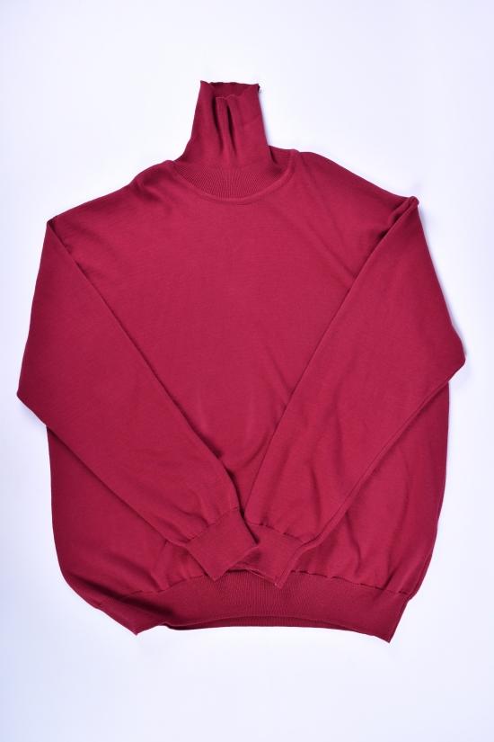 Свитер мужской тонкой вязки (цв.бордовый)Turhan Размеры в наличии : 60,62,64 арт.115