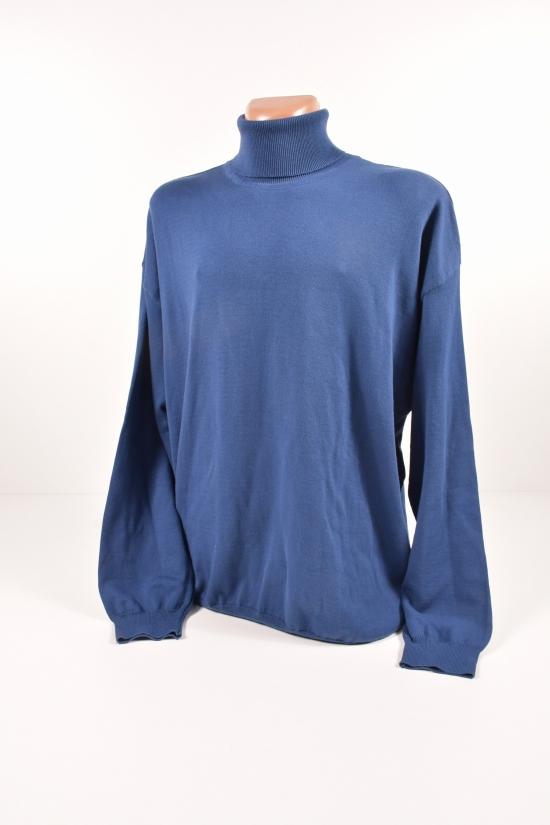 Свитер мужской тонкой вязки (цв.синий)Turhan Размеры в наличии : 62,64 арт.115