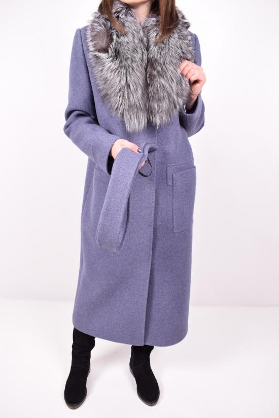 Пальто женское кашемировое зимнее (воротник натуральный мех) TIARA Размер в наличии : 48 арт.M-324