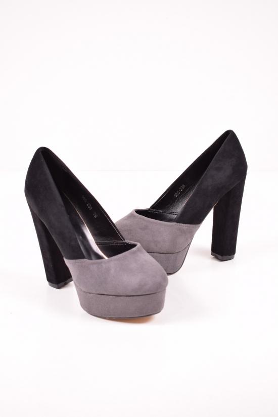 Туфли женские (цв.dk.grey/black) Meideli Размеры в наличии : 36,37,38,39,40 арт.986-238