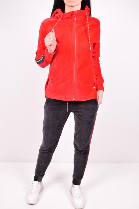 Костюм женский спортивный (цв.красный) вельветовый  MARATON Размеры в наличии : 44,46,48,50 арт.MWAW1918709TRS013