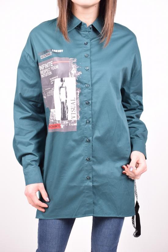 Рубашка-туника (цв.т.зеленый) C&ot Размеры в наличии : 50,52,54,56,58 арт.A1019