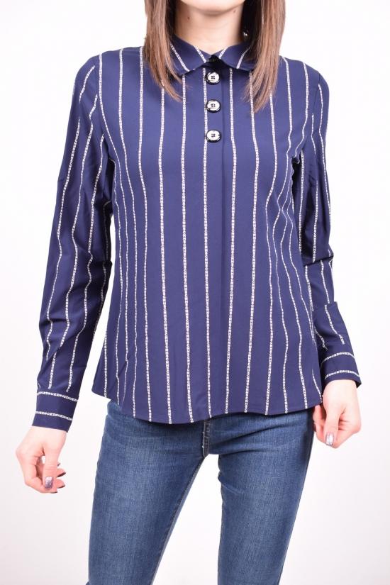 Рубашка женская стрейчевая (цв.т.синий) C.&ot Размеры в наличии : 42,44,46,48,50 арт.A1576