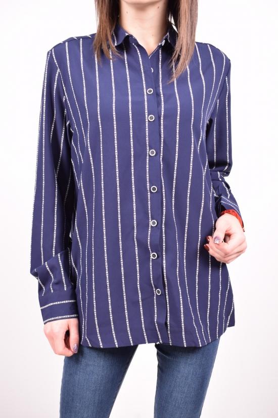 Рубашка женская стрейчевая (цв.т.синий) C.got Размеры в наличии : 48,50,52,56 арт.A1511