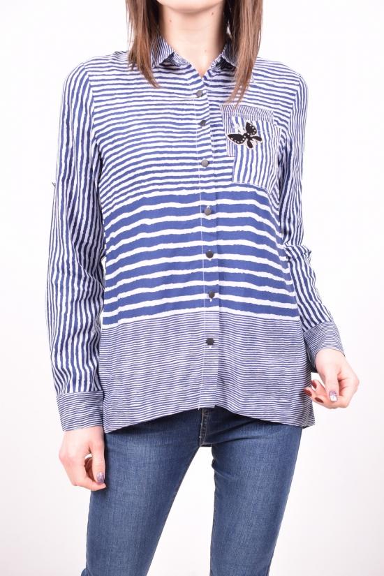 Рубашка женская  (цв.синий/серый) C.&ot Размеры в наличии : 42,44,46,48,50 арт.A1262