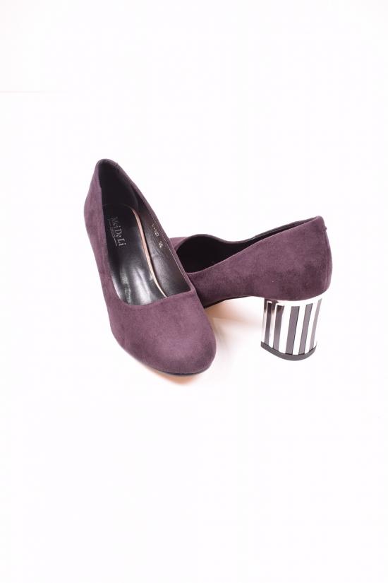 Туфли женские (цв.dk.purple) Meideli Размеры в наличии : 36,38,39,40 арт.F-157