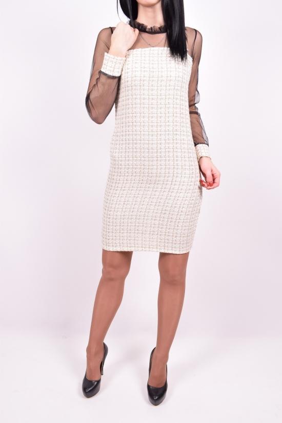 Платье женские (цв.бежевый) Exclusive Размеры в наличии : 40,42,44,46 арт.648