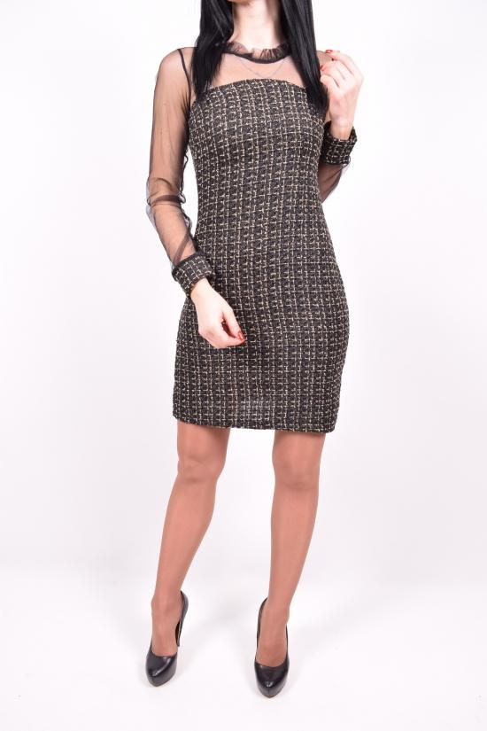 Платье женские (цв.черный) Exclusive Размеры в наличии : 40,42,44,46 арт.648