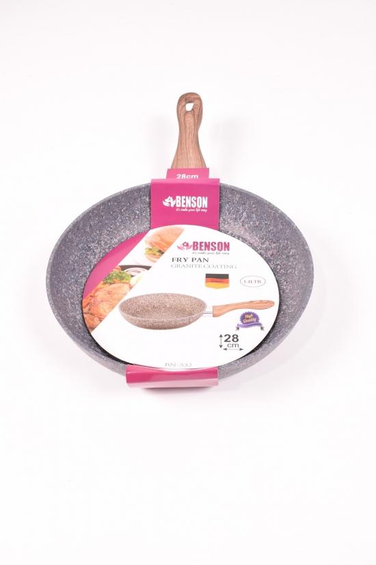 Сковорода с гранитным покрытием (d-28см) Benson арт.BN-532