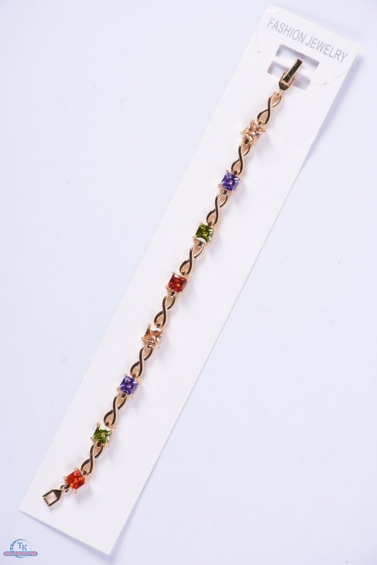 Браслет женский под золото Fashion Jewelry 17 см арт.0021000