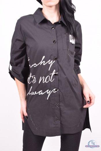 Рубашка женская (цв.черный) Getie Размер в наличии : 50 арт.5309