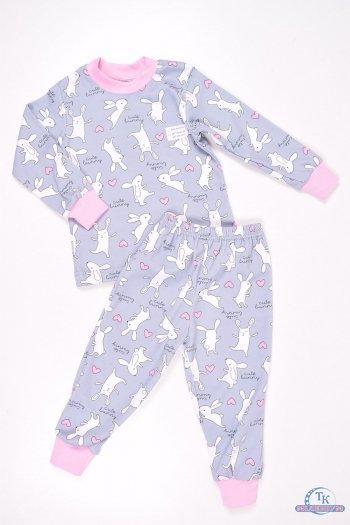 Пижама для девочки трикотажная (цв.серый) Роста в наличии : 86,98,110,122 арт.49.75.2