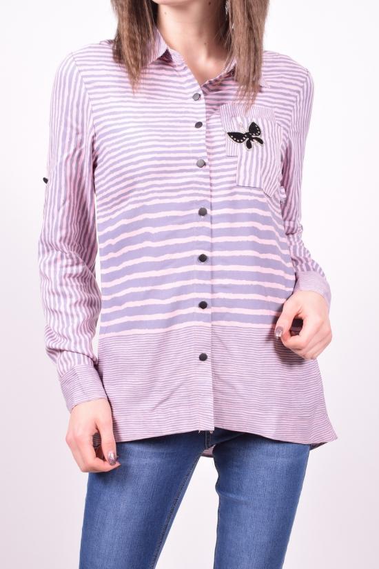 Рубашка женская  (цв.розовый/серый) C.&ot Размеры в наличии : 42,44,46,48,50 арт.A1262