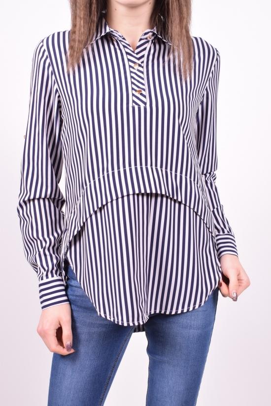 Рубашка женская стрейчевая (цв.белый/синий) Base Размеры в наличии : 44,46,48,50 арт.A1876