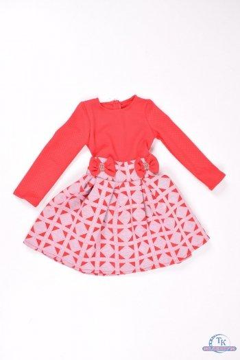 Платье для девочки (цв.красный) Роста в наличии : 104,110,116 арт.бант
