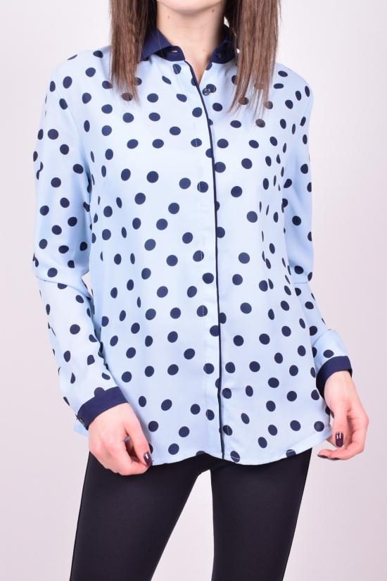 Блузка женская (цв.голубой) QIANZHIDU Размеры в наличии : 42,44,46,48,50 арт.13030