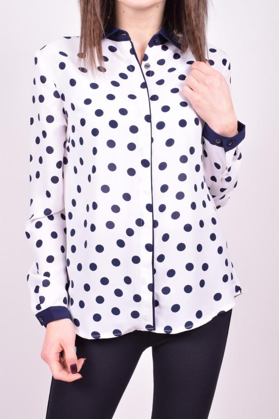 Блузка женская (цв.белый) QIANZHIDU Размеры в наличии : 42,44,46,48,50 арт.13030