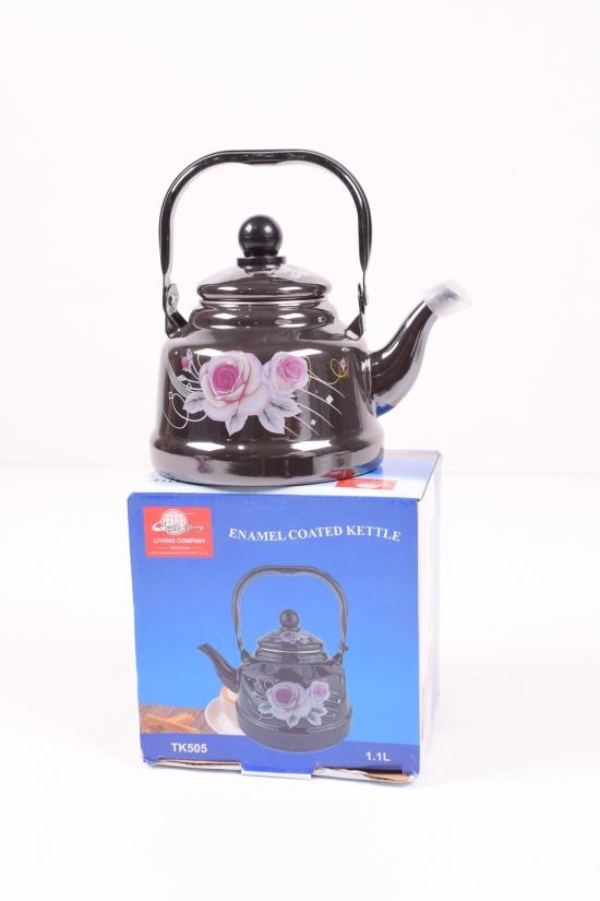 Чайник эмалированный (1,1л) Benson арт.BN-104