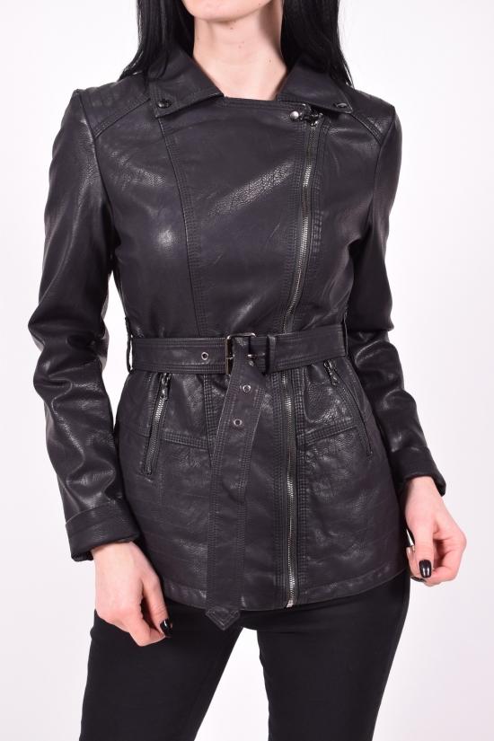 Куртка женская (цв.черный) из кожзаменителя демисезонная Размеры в наличии : 40,42,44,46,48 арт.2017