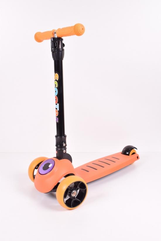 Самокат детский 4-х колесный колеса PU135mm/40mm со светом арт.SK20160