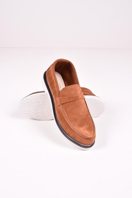 Туфли женские из натуральной замши (цв.коричневый) Blondi Размеры в наличии : 37,38,39,40 арт.01