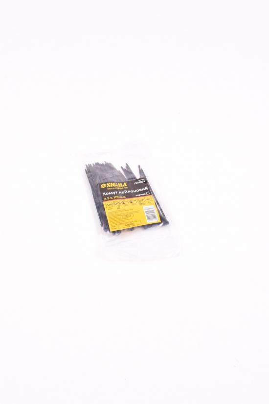 Хомут нейлон  2,5/100мм  черный (100шт) арт.2502031
