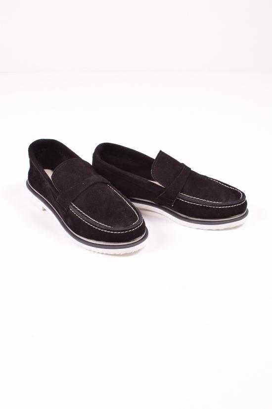 Туфли женские из натуральной замши (цв.черный) Blondi Размеры в наличии : 36,37,38,40 арт.01