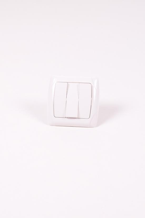 Выключатель трехклавишный белый Viko Carmen арт.90561068