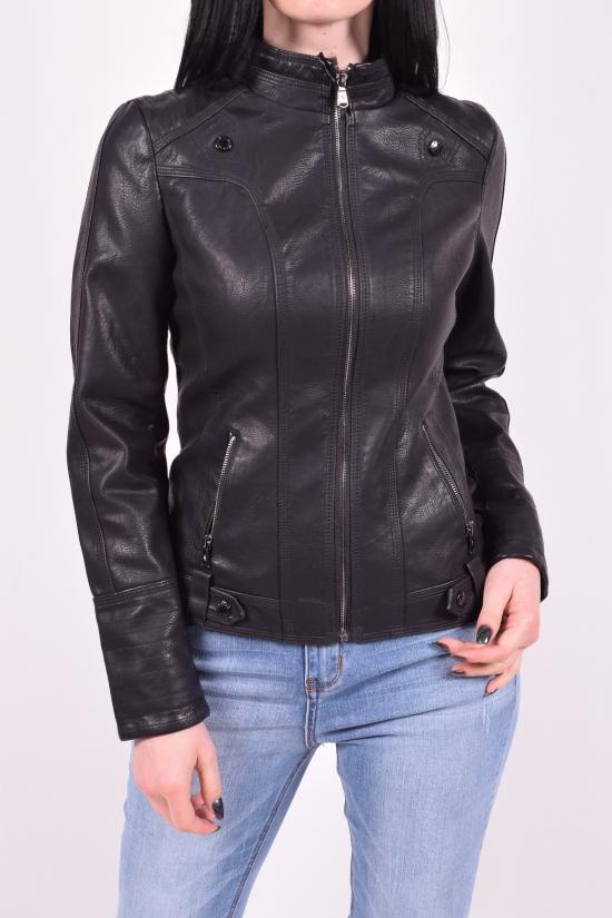 Куртка женская из кожезаменителя (цв.черный) Lanmas Размеры в наличии : 38,40,42 арт.R-208