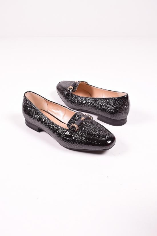 Туфли женские из натуральной кожи  (цв.черный) MARANTA Размеры в наличии : 37,38,39,40 арт.390