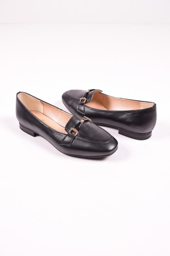 Туфли женские из натуральной кожи  (цв.черный) MARANTA Размеры в наличии : 36,37,38,39,40 арт.390