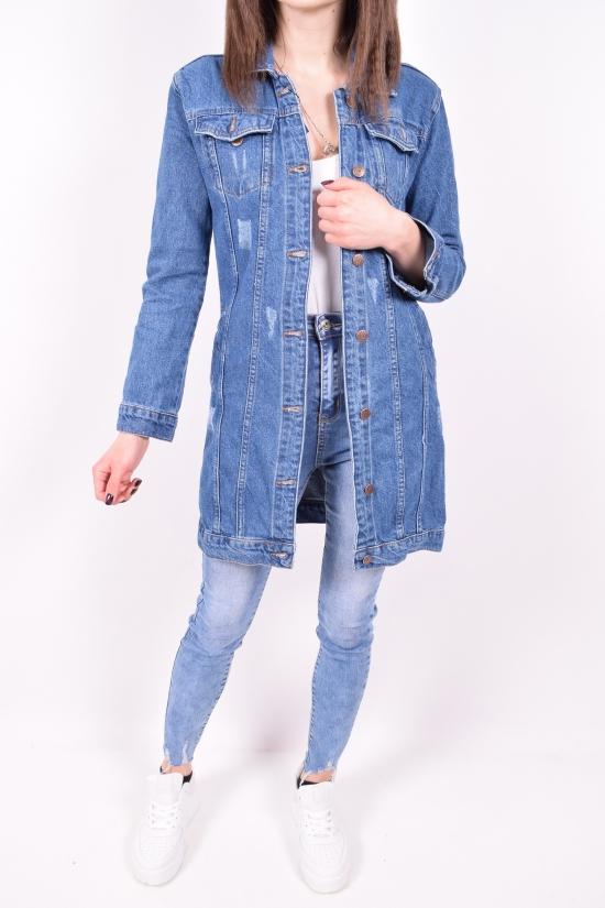 Пиджак джинсовый женский (цв.синий) HKG Размеры в наличии : 42,44,48 арт.2383