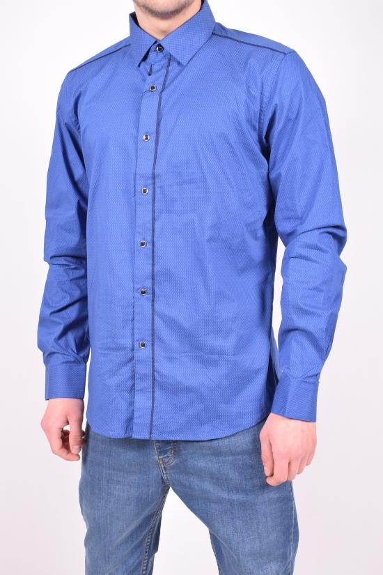 """Рубашка мужская """"Slim fit"""" Bazzolo (Cotton 95%,Lycra 5%) Размер ворота в наличии : 37,39,41,43,45,46 арт.SKY2481"""