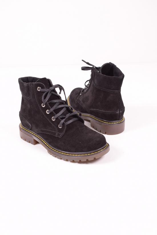 Ботинки женские (цв.черный) из натуральной кожи демисезонные Размеры в наличии : 36,37,38,39,40 арт.4