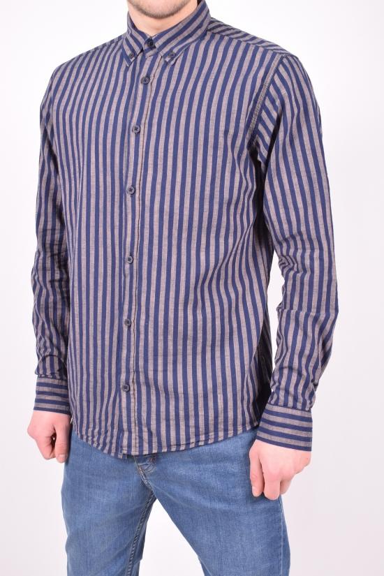 Рубашка мужская  (цв.коричневый) Ronex Размеры в наличии : 44,46,48,50,52 арт.полосы