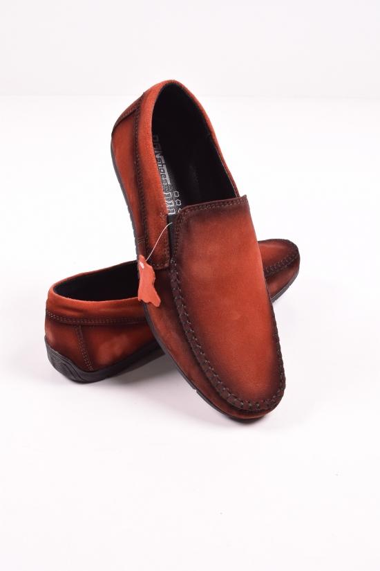 Мокасины мужские из натуральной замши (цв.кирпичный) DAN shoes Размеры в наличии : 41,42,43,44 арт.70S003-4кирп/тон