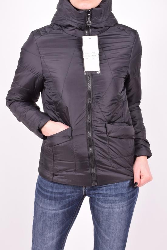 Куртка женская (цв.чёрный) из плащевки демисезонная Размеры в наличии : 40,42,44,46,48 арт.2185